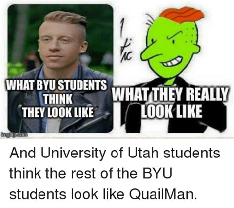 Utah Memes - what byu students what they reall think they look like look like and university of utah