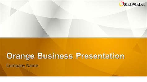 orange business powerpoint template slidemodel