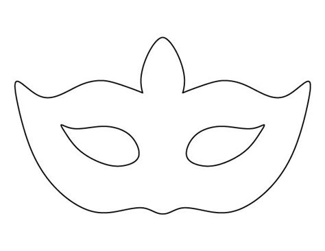 mask template masquerade mask pattern use the printable outline for crafts creating stencils scrapbooking