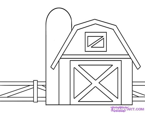 barn template how to draw a barn step by step buildings landmarks places free drawing tutorial