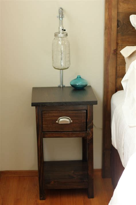 narrow nightstand   bed loccie  homes