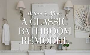 Before after a classic bathroom remodel pottery barn for Pottery barn teen bathroom