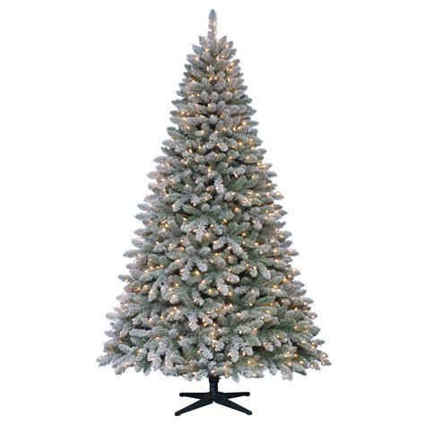 jaclyn smith christmas tree smith 7 flocked pre lit hartford pine tree
