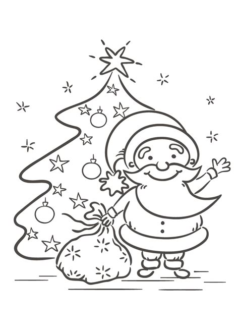 Kerstman En Kerstboom Kleurplaat kerstboom kleurplaat 38 mooie kleurplaten kerstboom