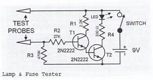 Lamp  U0026 Fuse Tester Circuit