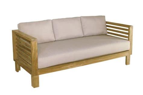divanetto da esterno tropez 212 divanetto da esterno in teak con cuscini