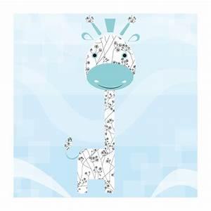 Tableau Chambre Enfant : tableaux la girafe bleue chambre bebe chez deco minus ~ Teatrodelosmanantiales.com Idées de Décoration