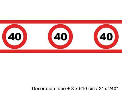 Absperrband Geburtstag 40 Jahre Dekoration