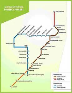Metro Rail Chennai Route Map