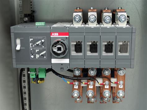 automatic transfer switch panel ats 4 poles three phase 400 motorized selector abb