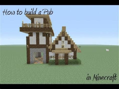 How To Build A Medievil Pub In Minecraft Youtube