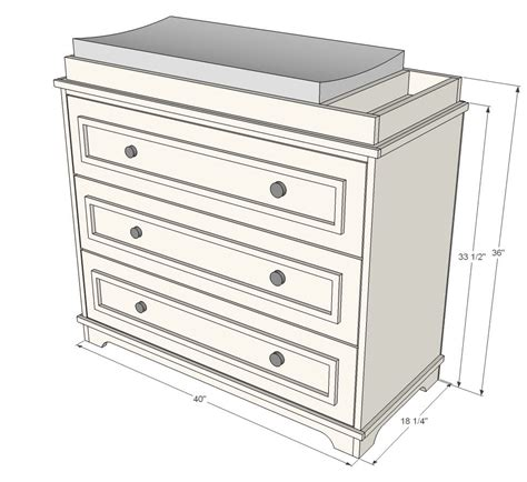 ana white build  fillman dresser  changing table