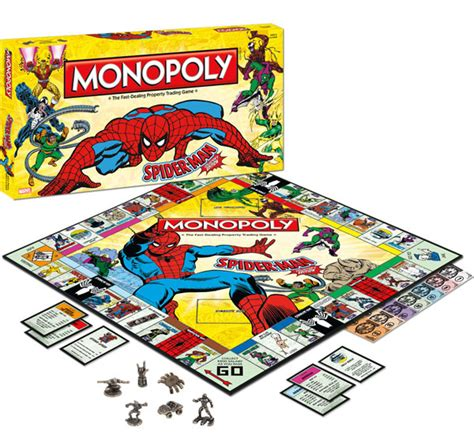 spider man collectors edition monopoly board game