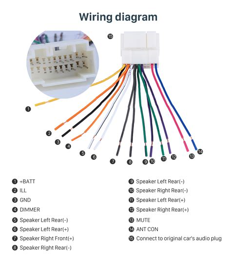 Car Audio Wiring Harnes Diagram by High Quality Wiring Harness Adapter Audio Cable For
