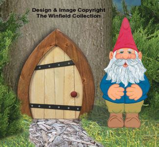 yard art woodcraft plans mini gnome door woodcrafting