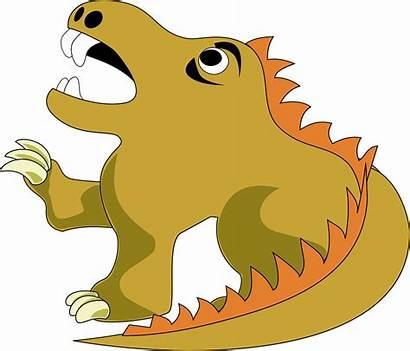 Dragon Clipart Clip Firedrake Water Cartoon Scary