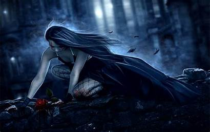 Gothic Fantasy Dark Backgrounds Wallpapers Rose Blood