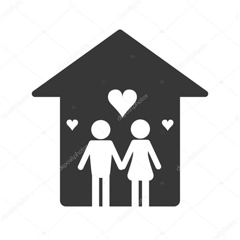 symbol familie familie und haus piktogramm symbol stockvektor