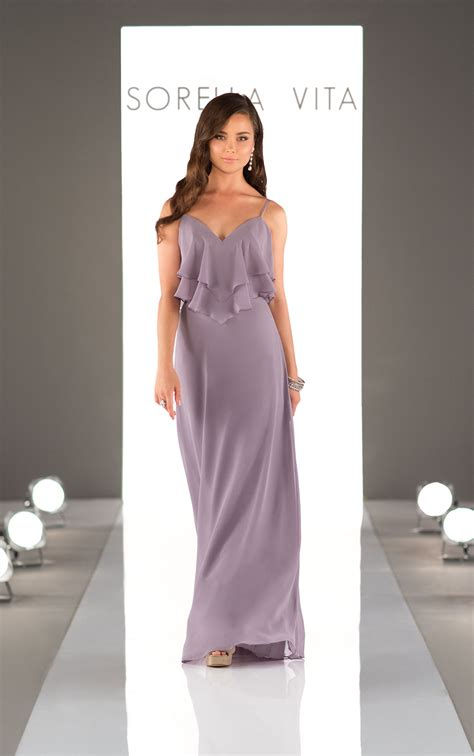 boho chiffon bridesmaid dress sorella vita bridesmaid