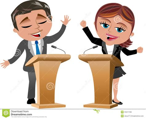 Man Woman Speakers Speaker Isolated Stock Vector