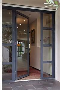 Porte D Entrée Vitrée Aluminium : porte d 39 entr e en aluminium kanada kawneer france ~ Melissatoandfro.com Idées de Décoration