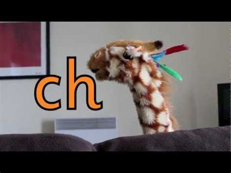 geraldine  giraffe learns ch sound youtube