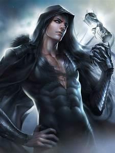 Original fantasy male zeilyan long hair blue eyes ...