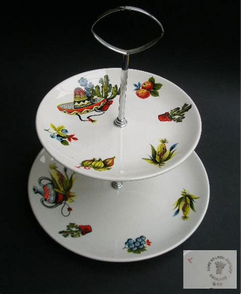 lord nelson pottery rio design  tier plate stand