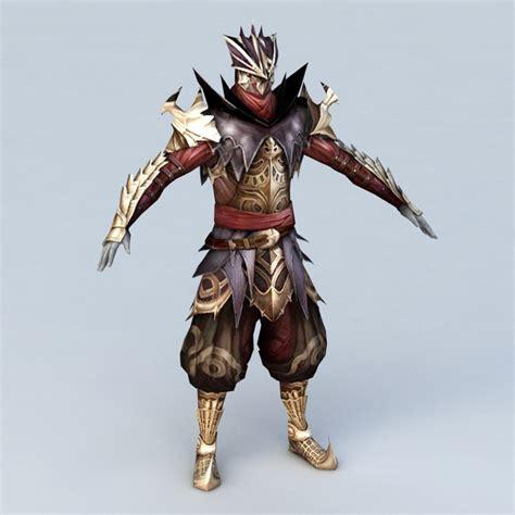 medieval assassin armor  model ds max files