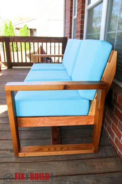 ana white modern outdoor sofa diy projects
