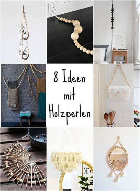 Inspiration  8 Bastel Ideen Mit Holzperlen  Green Bird