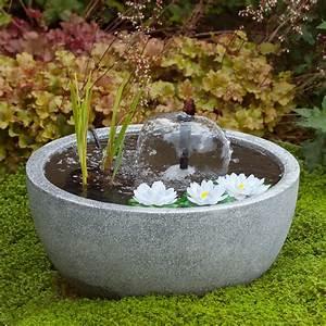 Bassin De Terrasse : mini bassin de terrasse gris 55 h30 cm n nuphars h55 x ~ Premium-room.com Idées de Décoration