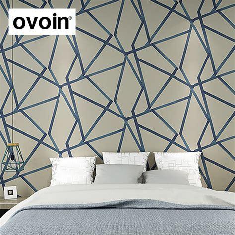 metallic triangle geometric modern design wall paper home