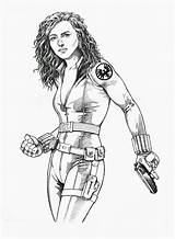 Coloring Superhero Pages Widow Printable Female Jedi Trick Inked Drawing Realistic Children Filminspector Getdrawings Deviantart sketch template