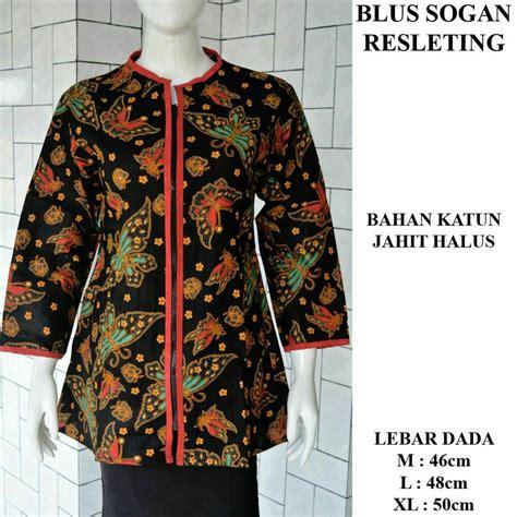 jual blus batik batik sogan resleting katun jahit halus motif 3 di lapak batik nusantara lapak