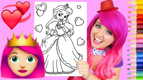 Coloring Kimmi by Coloring A Princess Pretty Pink Coloring Book Page