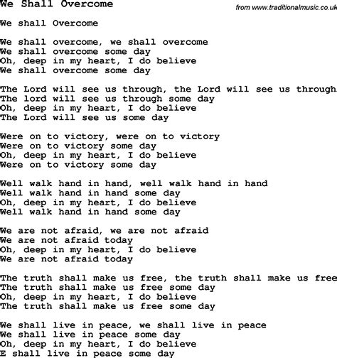 we shall overcome testo opiniones de we shall overcome the seeger sessions