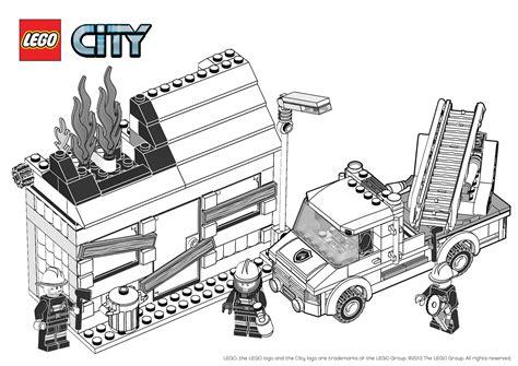 dessins de coloriage lego city pompier  imprimer