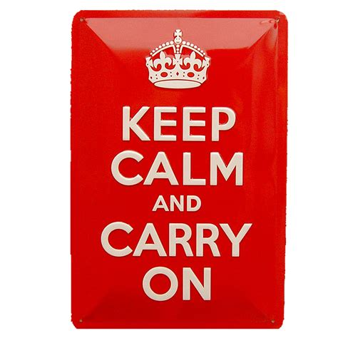 Cartel Publicitario Keep calm and carry on Tinads