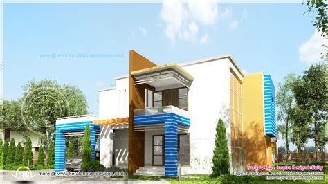 generation contemporary house exterior kerala home design  floor plans