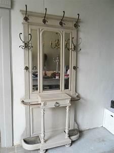 vestiaire d39entree porte manteaux style louis xvi peint With porte d entrée style ancien