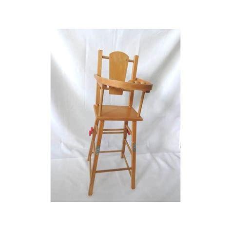 Chaise Haute Poupee Bois chaise haute de poup 233 e en bois jouets r 233 tro jeux de