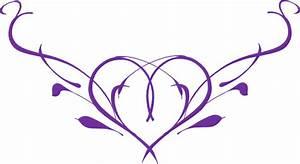 Purple Heart Wedding Clipart - Clipart Suggest