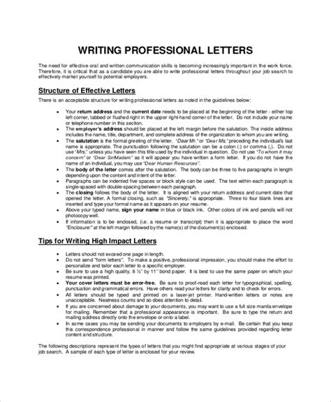 sample letter writing  documents   word