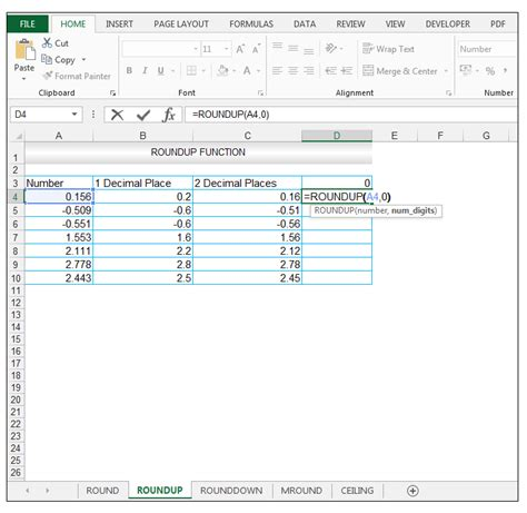 ceiling function roundup excel roundup rounddown mround ceiling functions in