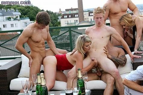 Group Outdoor Two Party Car Stiff Lesbian