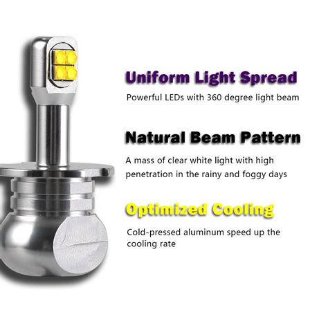 h3 led fog light bulbs nighteye h3 led fog light bulbs driving l drl 80w