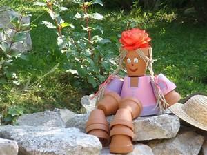 Creation Avec Des Pots De Fleurs : tutoriel bonhomme pots femme2decotv ~ Melissatoandfro.com Idées de Décoration