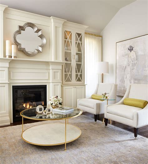 Using Gold Accents In Interior Design by Modern Neutral Living Room With Gold Accents