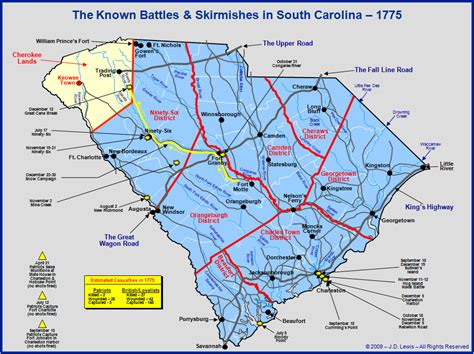 South Carolina in the American Revolution - Engagements of ...